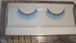Для глаз - Накладные ресницы голубые с блеском, 0