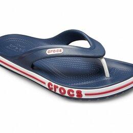 Шлепанцы - Темно-синие сланцы для мальчика CROCS Bayaband Flip 38 размер, 0