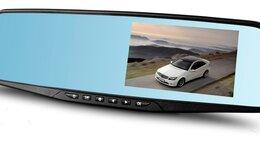 Видеокамеры - Видеорегистратор-Зеркало/Full HD/1080р, 0