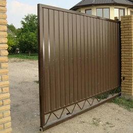 Заборы, ворота и элементы - откатные ворота, 0