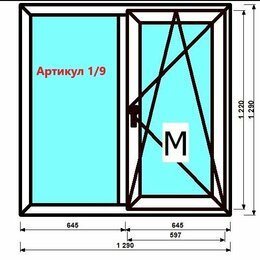 Окна - Пластиковое окно двухстворчатое Брежневка под ключ., 0