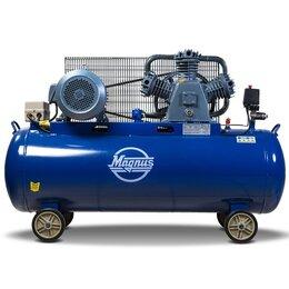 Воздушные компрессоры -  Компрессор воздушный Magnus KW-750/250 (8атм.,5,5кВт.,380В,Ф80), 0