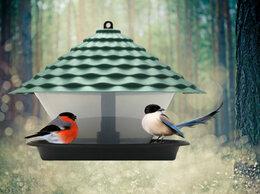 Садовые фигуры и цветочницы - Кормушка для птиц КП01 (коричневый), 0