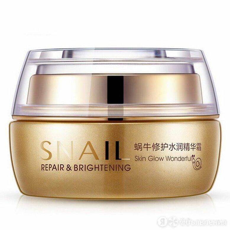 Увлажняющий крем для лица с муцином улитки Snail Repair & Brightening, 50гр по цене 430₽ - Антивозрастная косметика, фото 0