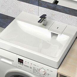 Раковины, пьедесталы - Умывальник над стиральной машиной Адель 590х546 с кронштейнами, 0