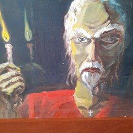 Картины, постеры, гобелены, панно - Картина, из монастыря ,Исцеление*.80 гг.Масло., 0