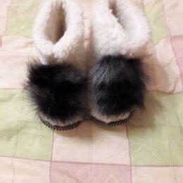 Домашняя обувь - Домашние чуни из овечьей шерсти, 0