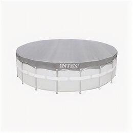 Тенты и подстилки - Тент для каркасного бассейна 488 см, круглый,…, 0