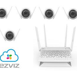 Камеры видеонаблюдения - Комплект на 5камер ezviz C3WN +Vault Plus, 0