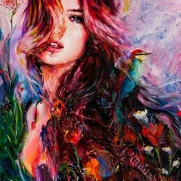 Раскраски и роспись - Картина по номерам на холсте-девушка, 0