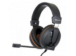 Компьютерные гарнитуры - Гарнитура игровая Gembird MHS-G100 черный оранжевы, 0