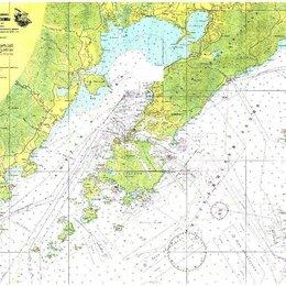 Карты и программы GPS-навигации - Карта Амурского и Уссуриского залива, Залив петра Великого 1:100 000, 190*140см, 0