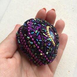 Шкатулки - Яркая индийская миниатюрная фиолетовая шкатулочка для украшений, 0