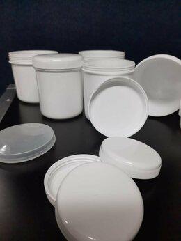 Ёмкости для хранения - Белые пластиковые банки с крышками, 0