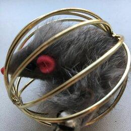 Игрушки - Мышка в шаре с колокольчиком на хвосте для кошек, 0