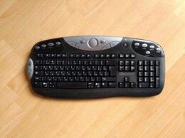 Клавиатуры - Беспроводная клавиатура Logitech  с адптером, 0