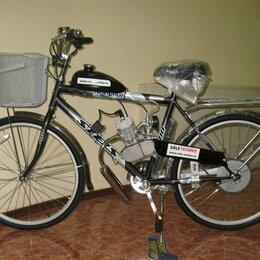Мототехника и электровелосипеды - Велосипед с мотором Techno QF-80, 0