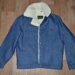 Куртки - Куртка джинсовая на меху Maverick Blue Bell, Made in USA (48-50), 0