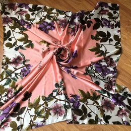 Шарфы и платки - Платок новый шёлк 90 см*90 см, 0