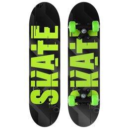 Скейтборды и лонгборды - Скейтборд подростковый SKATE 62х16 см, колёса PVC d=50 мм, 0