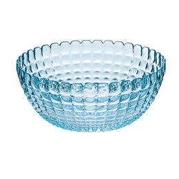 Блюда, салатники и соусники - Салатница стеклянная 25 см голубая Tiffany L, 0