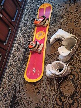 Сноуборды - Сноуборд детский комплект 130см, 0