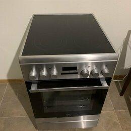 Плиты и варочные панели - Эл. плита с духовкой Eletrolux EKC 954508 X, 0