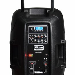 Акустические системы - XLine NPS-15A Активная аккумуляторная акустическая система с USB/SD/Bluetooth/FM, 0