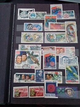 Марки - Коллекция почтовых марок+Наборы открыток, 0