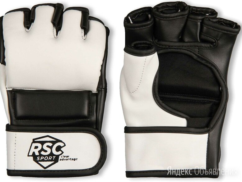 Перчатки ММА RSC PU, BF-MM-4006, Бело-черный, M по цене 1080₽ - Боксерские перчатки, фото 0