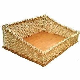 Хлебницы и корзины для хлеба - Плетеный лоток со скосом 30*30*8*6 см, 0