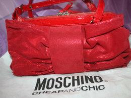 Сумки - Сумка Moschino Италия красная замша натуральная…, 0
