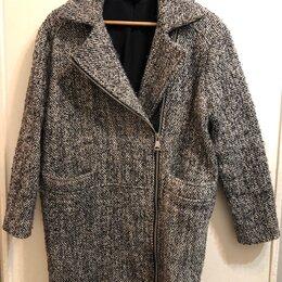 Пальто - Короткое пальто, серое букле, TOP SHOP, размер XS, 0