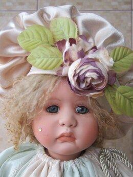 Куклы и пупсы - Большая фарфоровая кукла Шут Linda Valentino, 0