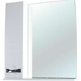 Полки, стойки, этажерки - Зеркало-шкаф Bellezza Абрис 65 L белый, 0