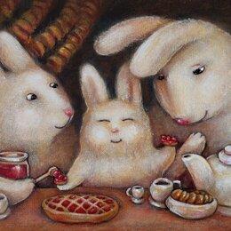 """Картины, постеры, гобелены, панно - картина """"Как вкусно дома!""""     Художник Феина , 0"""