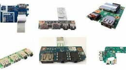 Кабели и разъемы - Платы USB, питания, Audio и др. для ноутбуков, 0