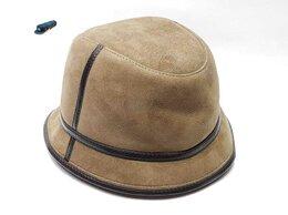 Головные уборы - Панама шляпа мужская меховая зимняя (табачный), 0