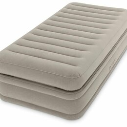 Надувная мебель - Надувная кровать 99х191х51см встроенный насос 220V, 0