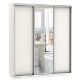 Шкафы, стенки, гарнитуры - Шкаф-купе Медиум Трио 1800 мм (1 зеркало) белый…, 0