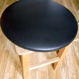 Стулья, табуретки - Сиденье для стула или табурета (чёрный кожзам) , 0