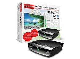 ТВ-приставки и медиаплееры - Цифровой приемник ТВ DVB-T2 D-Color DC702HD, 0