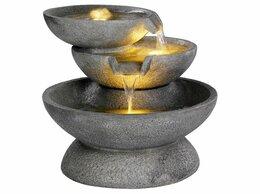 Декоративные фонтаны - Садовый фонтан с подсветкой САНТИНИ, тёплые…, 0