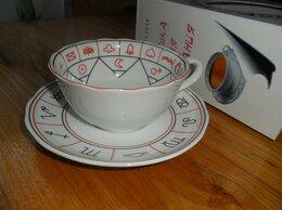 Кружки, блюдца и пары - чашка с блюдцем для гадания на чае., 0