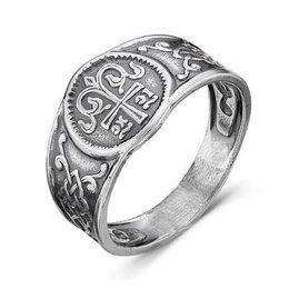 Кольца и перстни - Серебряное кольцо без камней с орнаментом Красная , 0