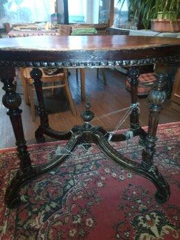 Столы и столики - Антикварный ореховый овальный стол, 0