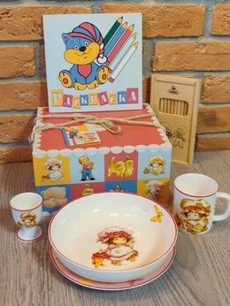 Сервизы и наборы - Подарочный набор детской посуды для девочки…, 0