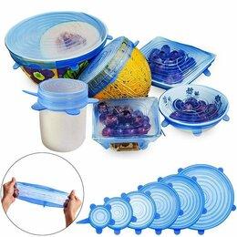 Аксессуары - Набор силиконовых крышек для посуды (6 штук), 0