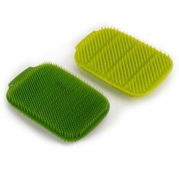 Тряпки, щетки, губки - Щетка для мытья посуды зеленая 2 штуки Cleantech , 0