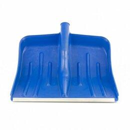 Лопаты - Лопата снеговая синяя 400х420 мм без черенка СИБРТЕХ, 0